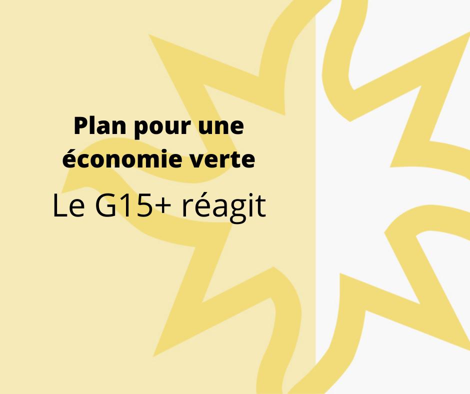 OUQ - PEV : le Québec sur la voie d'une relance verte, mais des efforts supplémentaires seront nécessaires, estime le G15+